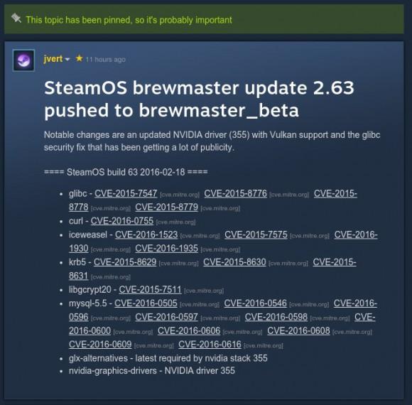 SteamOS mit Vulkan-Unterstützung