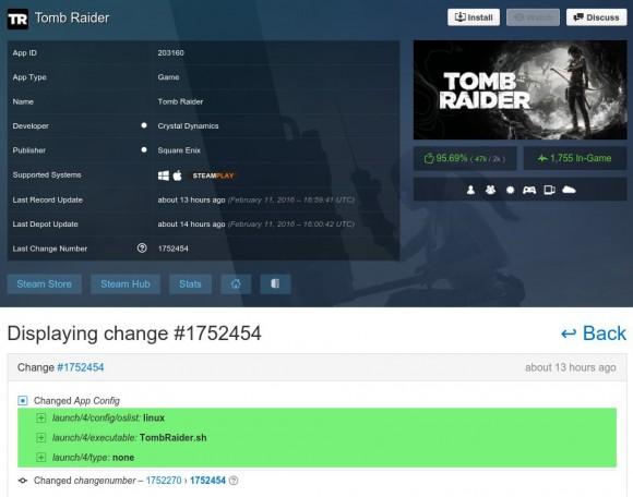 Tomb Raider mit einem Start-Skript für Linux ...