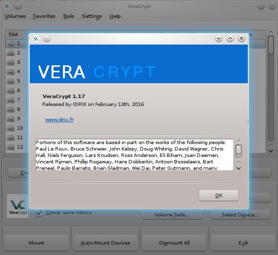 VeryCrypt 1.17 installiert