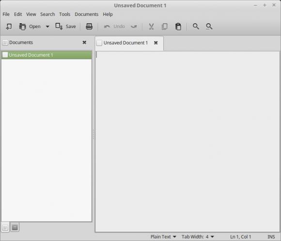 X-Apps: Der auf Pluma basierende Texteditor (Quelle: linuxmint.com)