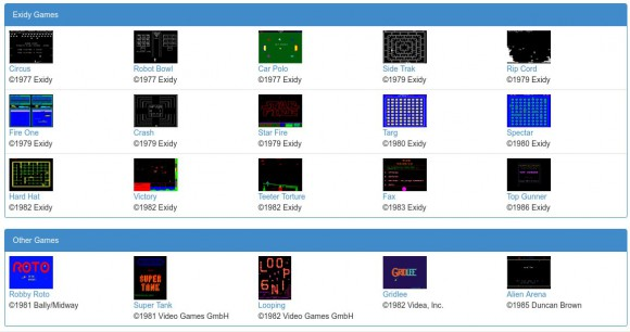 Die momentane Liste der kostenlosen Spiele für MAME