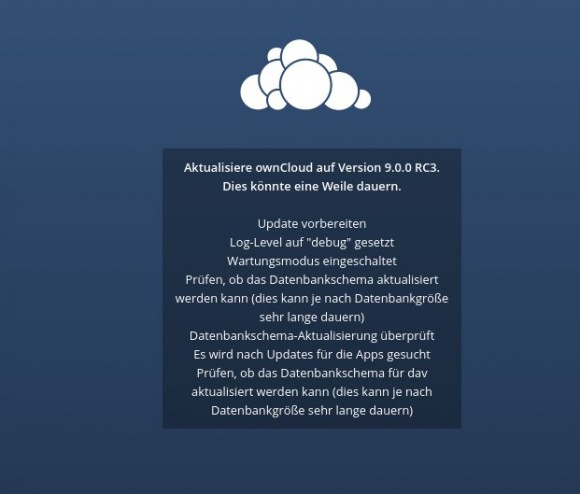 ownCLoud 9 RC3