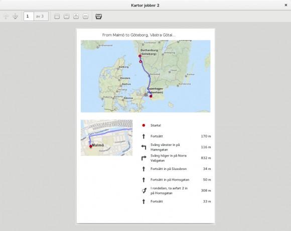 Route ausgedruckt (Quelle: jonasdn.blogspot.com)