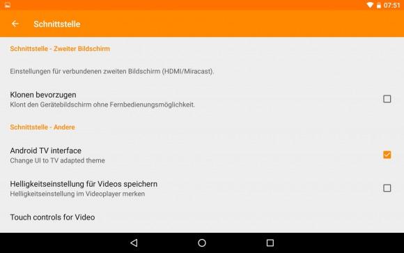 Android TV aktivieren