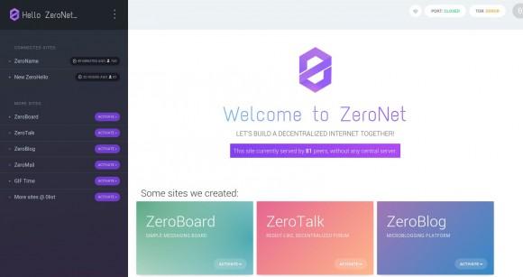 Zeronet - 81 andere Personen hosten die Seite auch