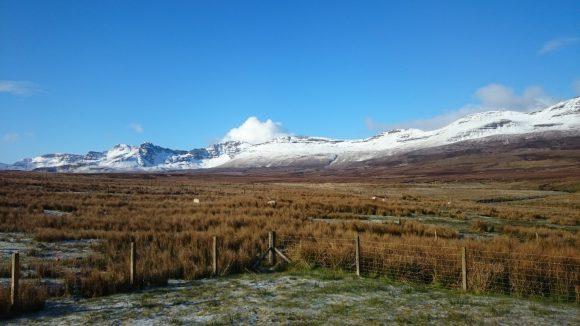 Morgens: Freier Blick auf die Trotternish Ridge