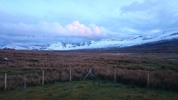 Abends: Schnee wieder weg ...