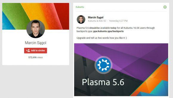 KDE Plasma 5.6 für Kubuntu 16.04 verfügbar