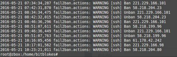 Fail2ban sagt, dass böswillige Hacker oder Cracker aus China in meinen Server wollen.