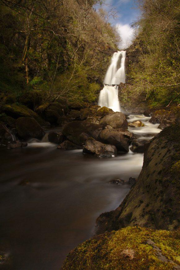 Wasserfall mit Verlaufsfilter verbessert