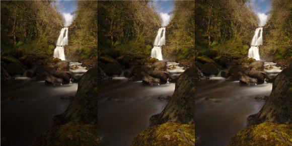Vergleich der Rah Falls