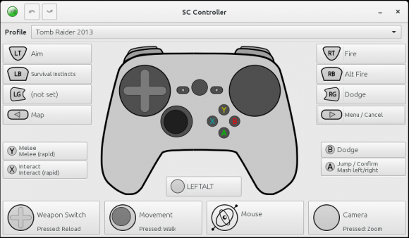 SC Controller: Steam Controller konfigurieren, ohne Steam öffnen zu müssen (Quelle: github.com)