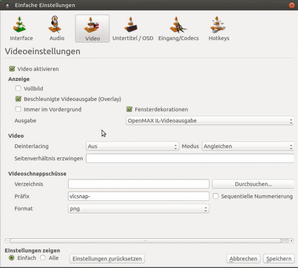 VLC mit OpenMax IL