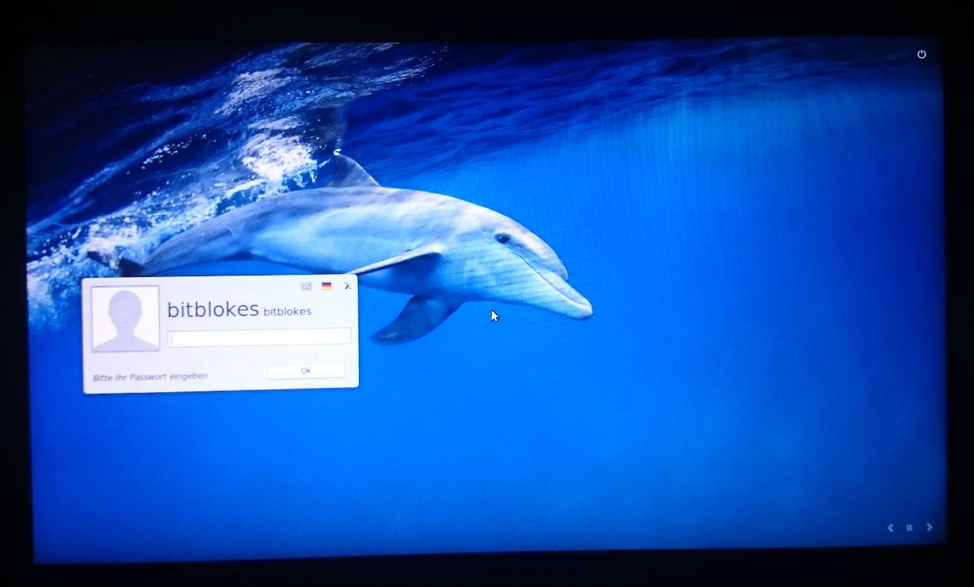 Linux mint anmeldebildschirm hintergrund