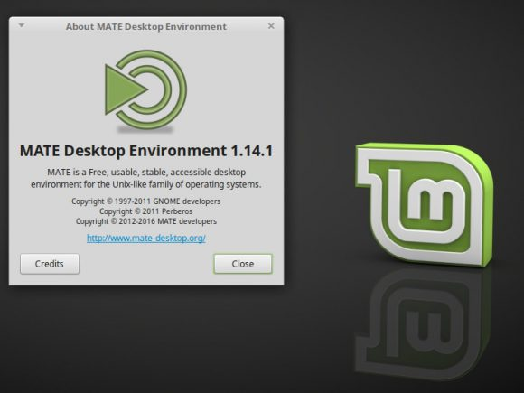 Linux Mint 18 - MATE 1.14