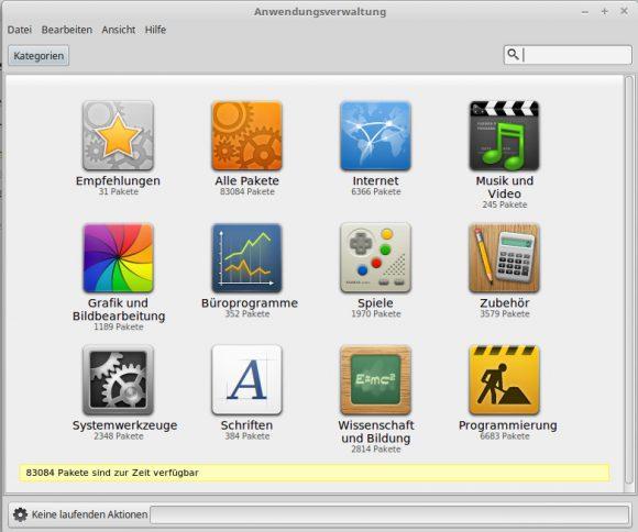 Software über die Anwendungsverwaltung installieren