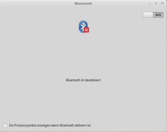 Bluetooth brauche ich nicht - wird deaktiviert
