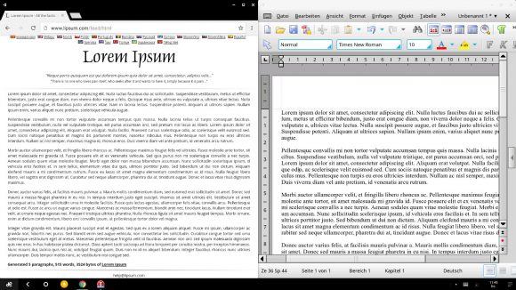 Chrome und TextMaker Hand in Hand