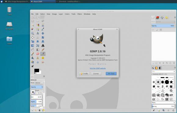 GIMP unter Xubuntu 16.04 auf einem PINE A64