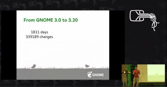 GNOME 3 zu 3.20 - fünf Jahre als Video