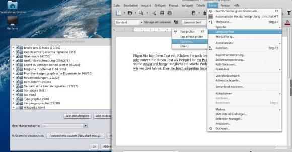 LanguageTool 3.4 in Aktion
