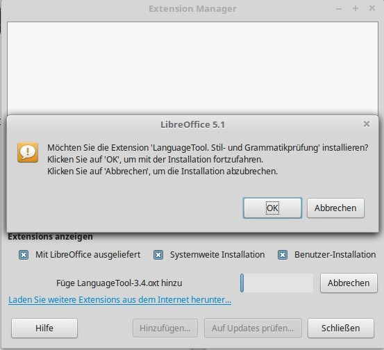 LanguageTool in LibreOffice installieren