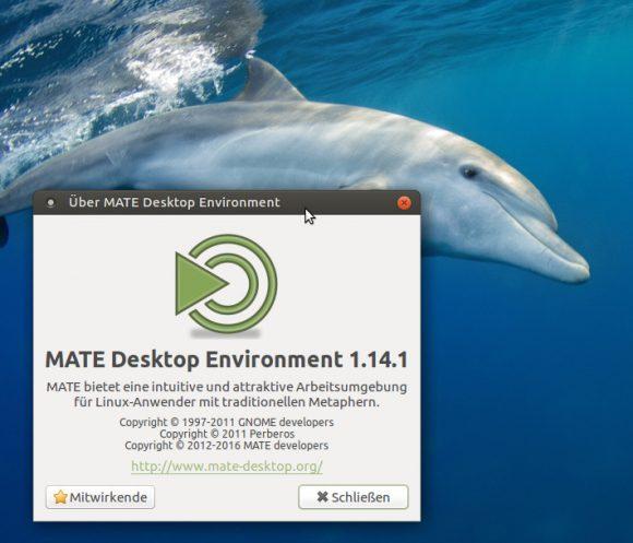 MATE Desktop 1.14 ist installiert