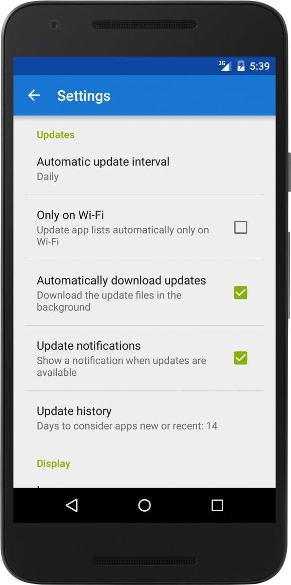 Bei F-Droid 0.100 sind automatisch Updates möglich (Quelle: f-droid.org)