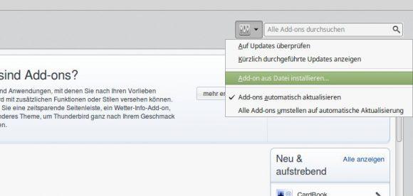 Add-on aus Datei installieren...