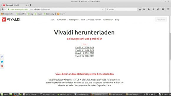 Der flexible Browser Vivaldi