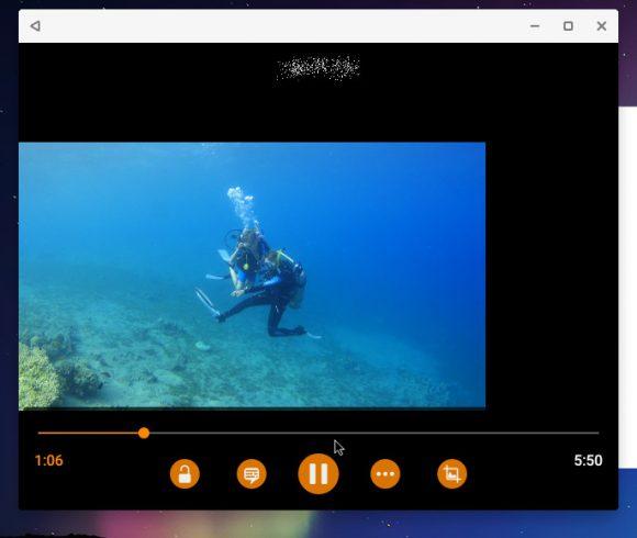 VLC mit komischem schwarzen Rand