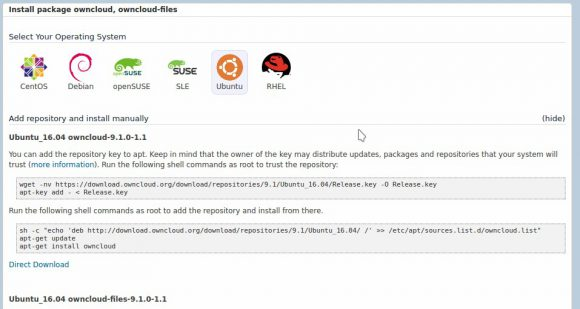 ownCloud 9.1 für verschiedene Distributionen