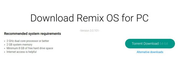 Remix OS für PC 3 herunterladen
