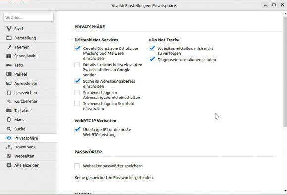 WebRTC IP-Verhalten