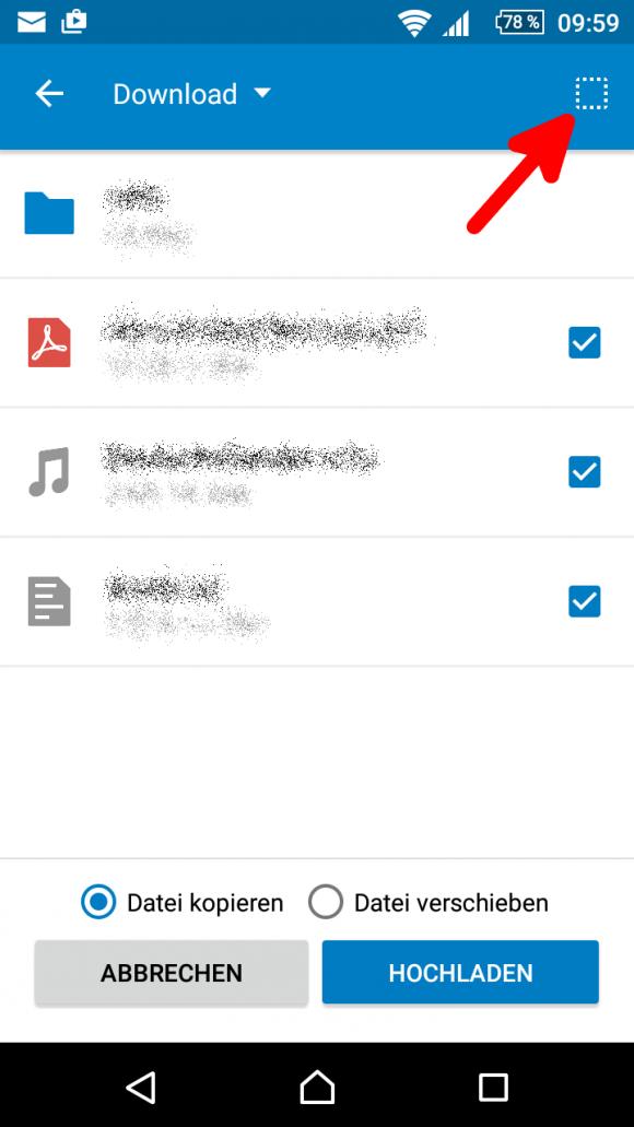 Alle Dateien auswählen