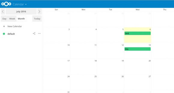 Kalender ist aktiviert
