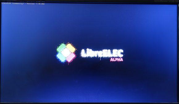 LibreELEC 8 Alpha startet