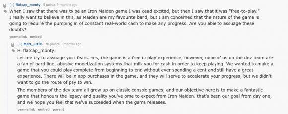 Iron Maide: Legacy of the Beast soll keine Cash Cow sein - Blödsinn