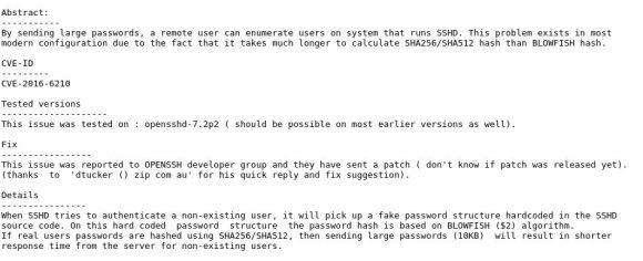 OpenSSH mit Enumeration Bug