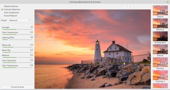 Photomatix für Linux - Ergebnis auswählen