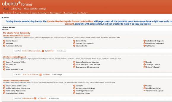 Ubuntu Forums läuft wieder