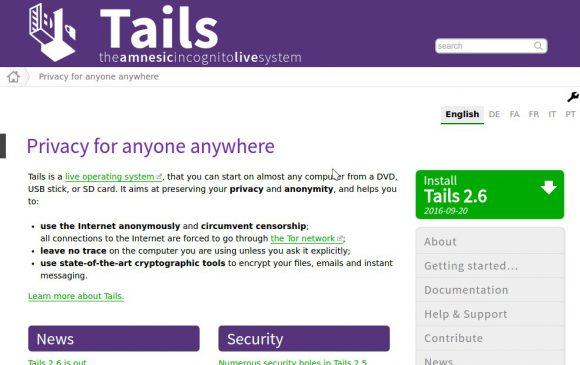 Tails 2.6 ist verfügbar