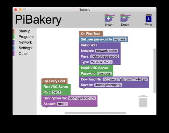 Mit PiBakery das Raspbian-Abbild an eigene Bedürfnisse anpassen (Quelle: pibakery.org)