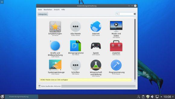 Linux Mint 1u KDE - Anwendungsverwaltung