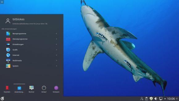 Linux Mint 18 KDE - Menü