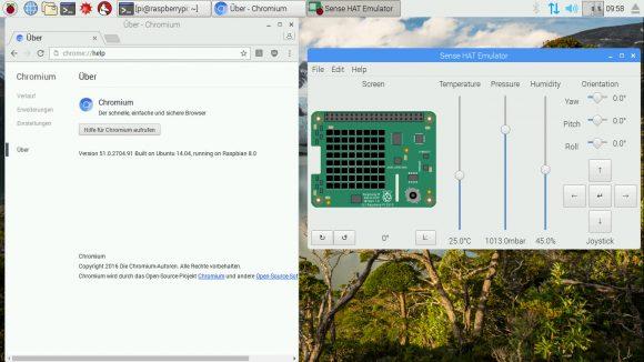 Chromium und SenseHat Emulator
