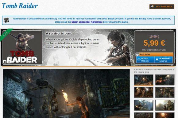 Tomb Raider derzeit im Angebot