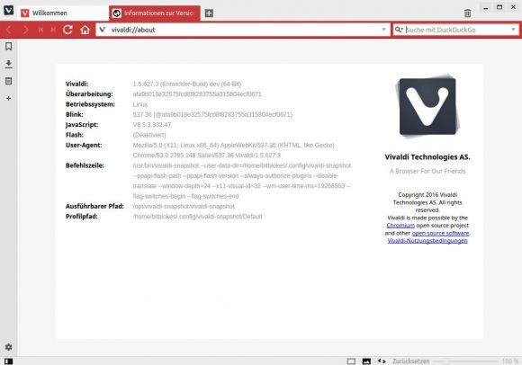 Vivaldi 1.5.627.3