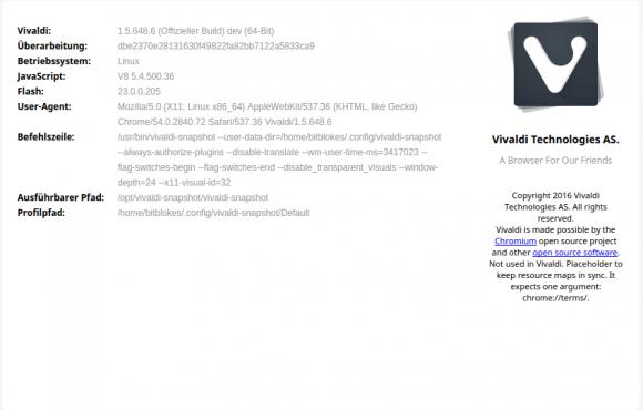 Vivaldi 1.5.648.6
