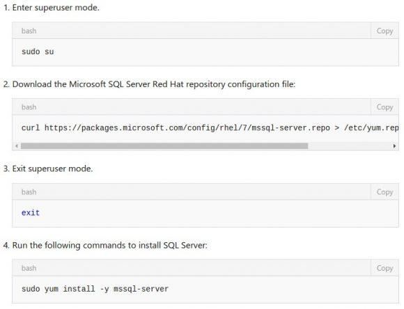SQL Server für Linux unter Red Hat Enterprise Linux 7.2 installieren